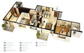 D bedroom house plans lofty inspiration single floor home six split large 2 bedroom house