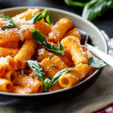 easy tomato cream rigatoni simply
