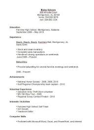Teenage Resume Examples Beauteous Job Resume Example For Highschool Students Vaydileeuforicco