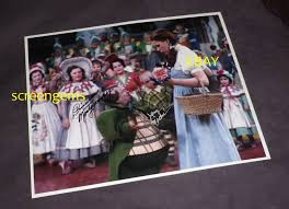 Wizard of Oz signed photo Jerry Maren and Priscilla Mon