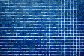 blue bathroom floor tile.