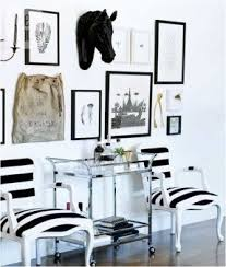 black and white striped furniture. black and white striped chairs horse head zebra art furniture