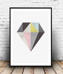 diamond print geometric home decor abstract art wallzilladesign