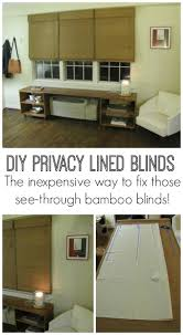 Love the look of bamboo Roman shades, but hate that they're see through