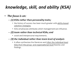 What Are Skills And Abilities The Knowledge Skill And Ability Requirements For Teamwork Ppt