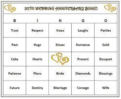 Wedding Bingo Words 50th Anniversary Party Bingo Game 30 Cards Golden Anniversary And Wedding Themed Bingo Words Very Fun Print And Play