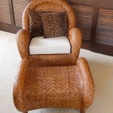 Pottery Barn Rattan Chair And Ottoman  Pottery Barn Rattan Chair38