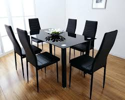 black glass kitchen table delightful glass table sets for kitchen also glass dining table set black