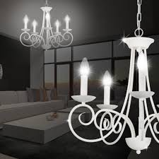 rustic house chandelier light Ø550mm country house rustic flemish white metal