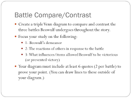 Compare And Contrast Beowulf And Grendel Venn Diagram English Iv Ms Hamfeldt Ppt Download