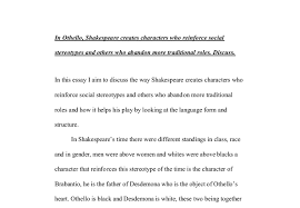 in othello shakespeare creates characters who reinforce social document image preview