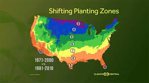 Growing Zone Chart Usa Planting Zones Moving North Climate Central