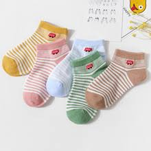 <b>5pair</b>/<b>lots</b> Spring new childrens socks cotton breathable short flat ...