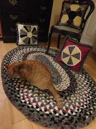 picture of heirloom wool cloth braided rug
