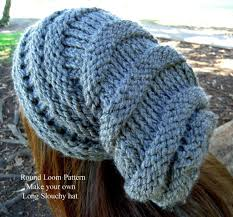 Loom Hat Patterns Simple Loom Knit Slouchy Hat Patterns A Knitting Blog