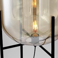 aliexpress com smoke glass lamp floor lamp loft replica design lamp modern stained glass sculpture lighting cognac glass shade standing light from