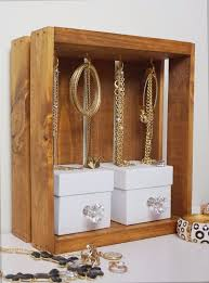 diy jewelry storage jewelry display crate do it yourself crafts and projects for organizing