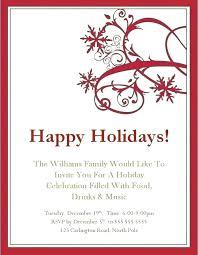 Company Holiday Party Invitation Wording Company Holiday Party Invitation Template