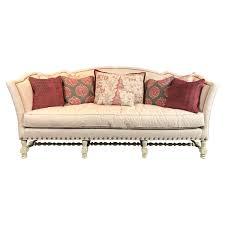 curved back sofa on turned base curved back sofa t1