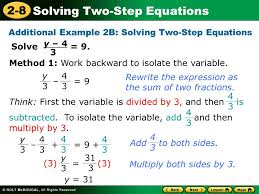 additional example 2b solving two step equations