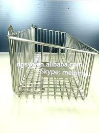 wall mounted metal baskets basket stainless steel wire hanging mount wi wall mounted storage baskets