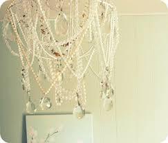broken pearl necklace chandelier