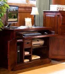 home office hideaway. Exellent Hideaway La Roque Mahogany Hidden Home Office Throughout Hideaway H