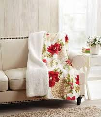 better homes and gardens blanket. Brilliant Blanket Amazoncom Better Homes U0026 Gardens Sherpa Fleece Christmas Poinsettia Plush  Throw Blanket Home Kitchen With And Blanket