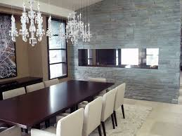 dining room see thru linear fireplace vancouver gas fireplaces