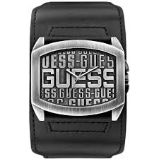 guess mens watches uk watches store part 4 guess w0360g1 men s watch analogue quartz black leather strap silver dial
