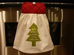 hanging white towel. Green Christmas Tree Multipurpose Hanging White Kitchen Towel With Attached Red Potholder Combination \u0027Have Yourself