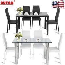 modern kitchen dining sets. 5x dining table set modern kitchen room furniture +4 chairs black white color jg sets a