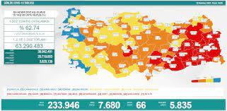 Türkiye'de korona virüsünden 66 kişi daha vefat etti