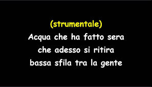 Fabrizio De Andrè Dolcenera With Chorus Karaoke - YouTube