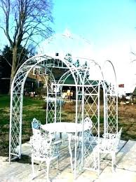 vintage wrought iron pergola designs arch garden trellis metal for pavilion