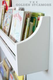 wall mounted bookshelves kids room