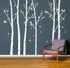 birch tree wall stencil urban forest white stickers uk full size of plus a with