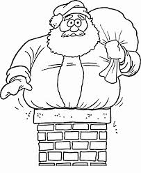 Small Picture Funny santa claus coloring pages in chimney ColoringStar