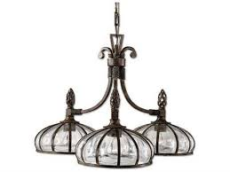 uttermost galeana iron three light 28 wide chandelier