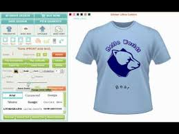 Shirt Making Software Custom Tshirt Design Software And Application Tool Creator Or Maker