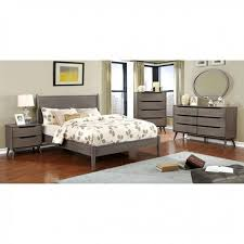Lennart Grey Contemporary Bed Frame - Paradise Furniture Store