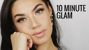 how to look glam in 10 minutes my go to simple glam makeup eman