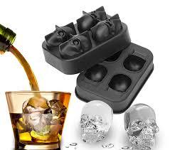 <b>3D Skull Silicone</b> Jello Ice Mold Flexible Cube Maker