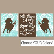 Perfect GIRL HORSE Wall Art, COWGIRL Bedroom Decor, Baby Girl Nursery Artwork,  Canvas Or