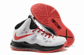 lebron red shoes. nike lebron 10 gr miami heat home white black red shoes