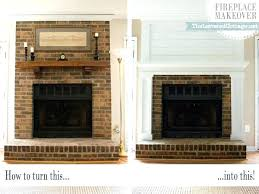 updating brick fireplace redo with stone