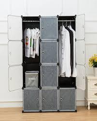 12 cubic diy plastic hanging wardrobe books cabinet clothes organizer toys organizer