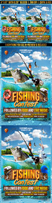 fishing contest flyer template by gugulanul graphicriver fishing contest flyer template events flyers
