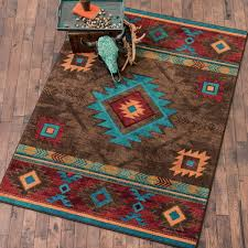 southwest rugs 4 x 5 whiskey river turquoise rug lone star
