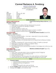 Filipino Nurse Resume Sample Applicant Resume Sample Sample Of